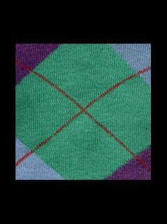80s Goth Punk Green Blue Purple Argyle Mens Crew Socks