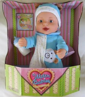 Water Babies Doll Complete Set Blue Bear Outfit Funnel Book Brand New
