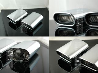 BMW x5 Dual Exhaust Tips Stainless Chrome 3 0L E53