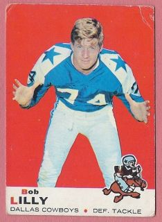 1969 Topps Football #53 Bob Lilly Cowboys pick it up