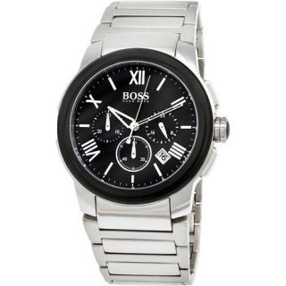 Hugo Boss Black Stainless Chronograph Mens Watch 1512488 with Gift