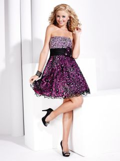 Hannah s 27698 Black Fuchsia Formal Ball Gown Prom Cocktail Dress Size