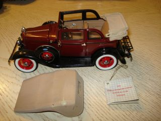 Convertible Sedan Bonnie Clyde Edition 1 24 Scale Franklin Mint