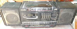 Vtg JVC Boombox Cassette Player Radio PC V55J