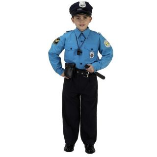 Jr Police Officer Cop Kids Boys Girls Costume 4 6