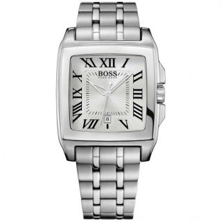 HUGO BOSS H2018 Classic Square Mens Stainless Steel Watch 1512495 NWT