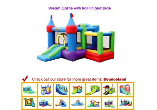 Inflatable Bounce House Dream Castle with Ball Pit Bouncer