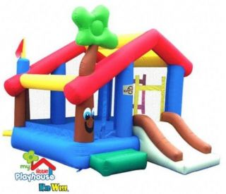 New My Little Playhouse Inflatable Bounce House Bouncer Slide