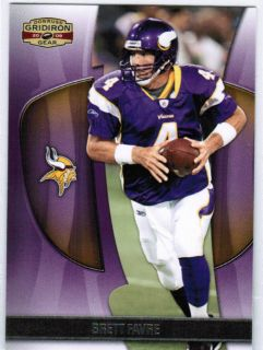 Brett Favre 2009 Gridiron Gear Base Card 89