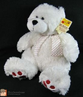 Boyds Bears Friends Bubba Lovebear White Cuddle Fluff Plush Teddy
