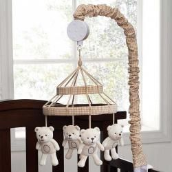 Teddy Bears Neutral Baby Boy Girl Nursery Crib Musical Mobile