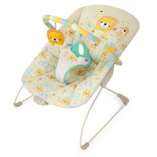 features of bright starts safari bouncer dots and spots deep cradling