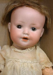 Precious Pair Antique German Bisque Baby Dolls Dream Baby Mystery Baby