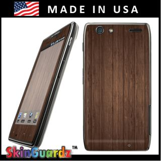 Brown Wood Vinyl Case Decal Skin to Cover Motorola Droid RAZR Maxx