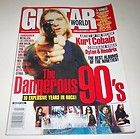 KURT COBAIN GUITAR WORLD MAGAZINE MARCH 1999 NIRVANA + POSTER