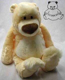 Brody Teddy Bear Stuffed Animal Plush Toy Gund Cream White Floppy Soft