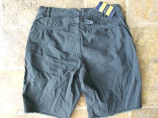 Rugby Ralph Lauren 30 Men $69 Shorts Cutoff Chino Cotton Gray Rear