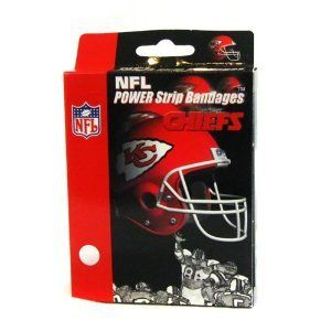 NFL Kansas City Chiefs Football Bandaid Bandages