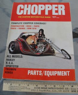 CHOPPER MOTORCYCLE GUIDE 183 pages Harley BSA Triumph Custom Parts