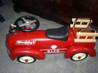 buddy l toy ride on fire engine cool old school retro ride euc