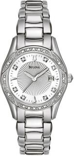 Bulova Ladies Diamond Dial Diamond Bezel 96R133 Watch