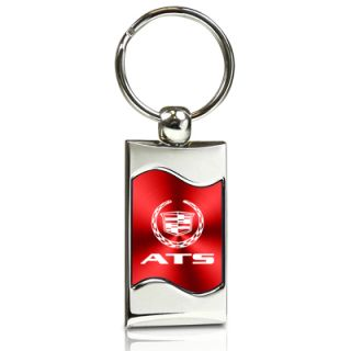 Cadillac ATS Red Spun Brushed Metal Key Chain Key Ring Keychain Free