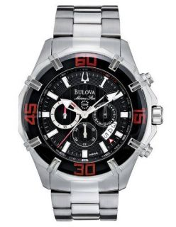 Bulova Mens Chronograph Watch Marine Star 96B154