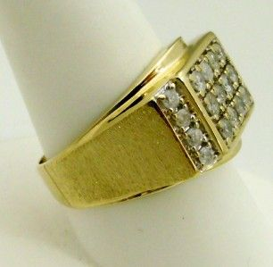 10kt yellow gold gents diamond ring