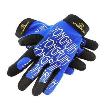 2012 Cycling Bike Bicycle Full Finger Gloves Size M XL Blue