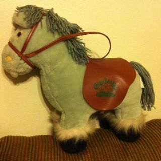 Cabbage Patch Kids Pony Horse Gray Silver Plush Stuffed