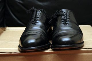 Allen Edmonds Black Byron Cap Toe Dress Shoes   Fifth Avenue Park Ave