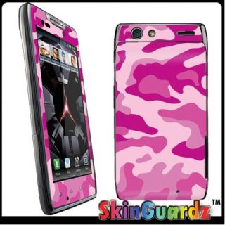 Pink Camouflage Vinyl Case Decal Skin to Cover Motorola Droid RAZR