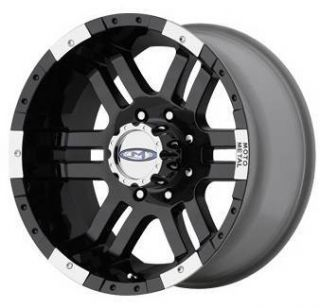 inch MO951 951 Black Offroad Chevy Ford Truck Wheels Rims Set