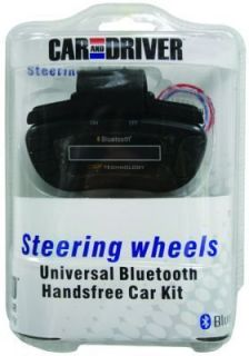 CAR AND DRIVER BRAND BLUETOOTH STEERING WHEEL HANDS FREE CAR KIT