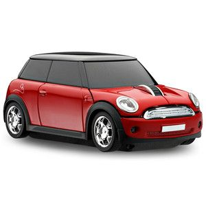 Motormouse BMW Mini Cooper s Car Wireless Mouse Red