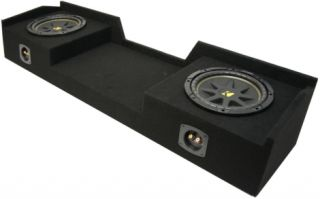 99 06 EXT CAB TRUCK DUAL 12 KICKER C12 LOADED SPEAKER SUB BOX