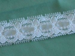 2yd McGinley Eloquence Lace Ribbon White Wedding Baby