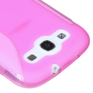Hot Pink(S Shape) Candy Skin Cover For SAMSUNG Galaxy S 3/III/GS3