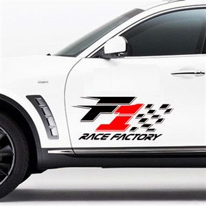 Race Factory Sports Double Car Side Door Decals Stickers﹟010