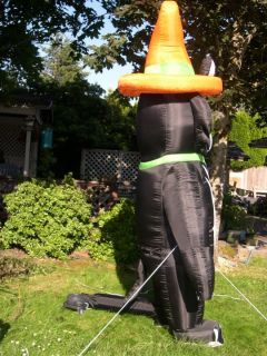 12 FT HALLOWEEN INFLATABLE BLACK CAT WITH HAT OUTDOOR YARD DECOR ART