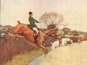 Cecil Aldin Scarce Original Vintage Antique Fox Hunting Horse and