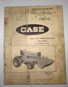 Case 680 Tractor Loader Parts Catalog Manual Book