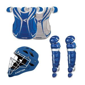 Easton Rival Home Road Adult Baseball Catchers Gear Package Royal