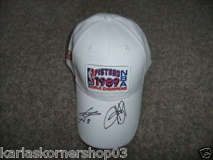 Signed Detroit Pistons NBA 1989 World Champions Hat