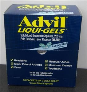 Advil Liqui Gels Ibuprofen Capsules 200 MG Pain Reliever Fever Reducer