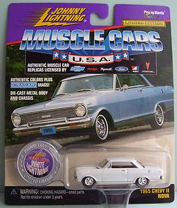 1965 Chevy Nova SS Johnny White Lightning Diecast Car WL JL Muscle Car