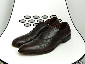 ALLEN EDMONDS CHESTER MENS SZ 15 AAA BROWN LEATHER WING TIP OXFORD