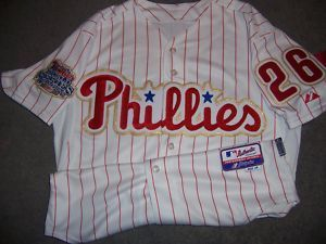 Chase Utley 2009 Opening Day Philadelphia Phillies Authentic Gold