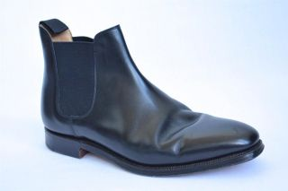 CROCKETT & JONES Mens COWDRAY CHELSEA Black Leather Dress Ankle Boot