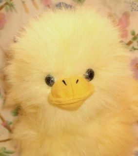 Wishpets 1999 Soft Plush Yellow Baby Chick Duck Fluffy